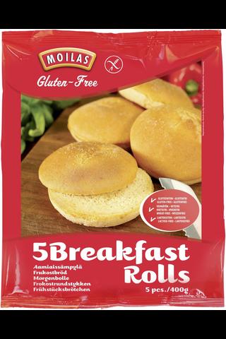Moilas Gluteeniton aamiaissämpylä 5kpl/400g, pakaste