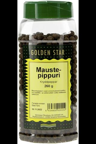 Golden Star 260g Maustepippuri kokonainen