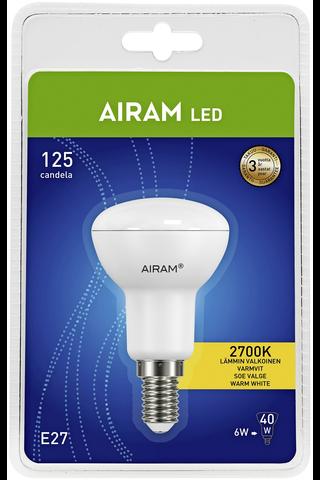 Airam LED 6W  E14 kohde 3000K 420lm 25000h