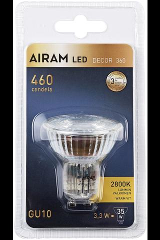 Airam Led Par16 kohde 3,3W GU10 2800K