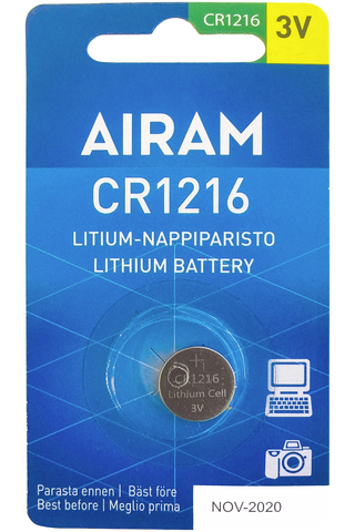 Airam CR1216 1/bl litium nappiparisto