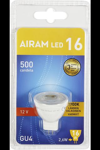Airam led polttimo 2,6W 12v GU4 MR11 36 ast