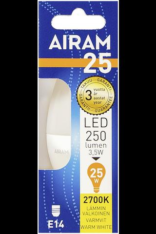 Airam led 3,5W kynttilä opaali E14 250lm 2700K