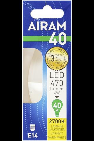 Airam led 6W kynttilä opaali E14 470lm 2700K