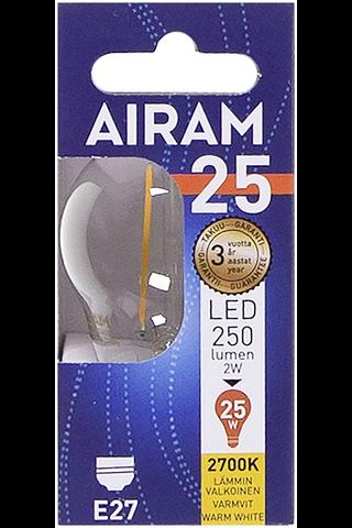 Airam led 2W koriste filamentti E27 250lm 2700K