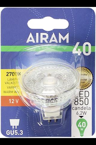 Airam led 6,2W MR16 36D full glass GU5.3 12V 500lm/850cd 2700K