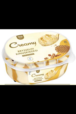 Ingman Creamy 850ml Brysselin kinuskikeksi kermajäätelö Into