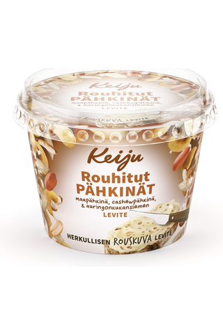 Keiju Rouhitut pähkinät rypsiöljy-kasvirasvalevite 50% 180g