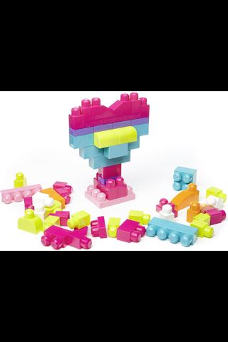 Mega Blocks Puuhapalikat säkissä pinkki 60 kpl DCH54