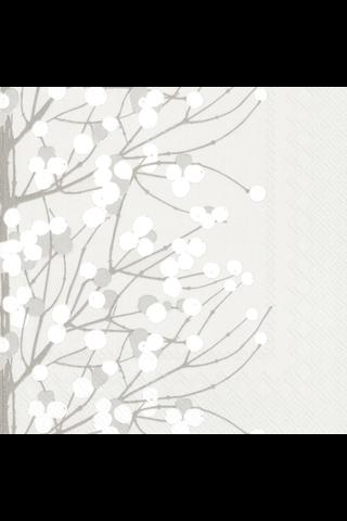 Marimekko Lumimarja 20kpl valkoinen servietti