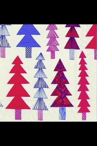 Marimekko Kuusikossa 20kpl punainen servietti