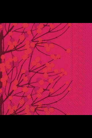 Marimekko Lumimarja 20kpl punainen servietti