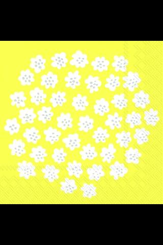 Marimekko 25cm lautasliina Puketti keltainen 20kpl