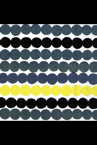 Marimekko Räsymatto keltainen servietti 33x33cm 20kpl