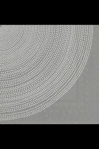Marimekko Fokus 20kpl harmaa servietti