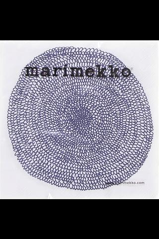 Marimekko Pippurikerä sinivalkoinen servietti 33cm 20kpl