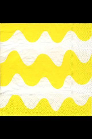 Marimekko Lokki vaaleankeltainen servietti 25x25cm 20kpl