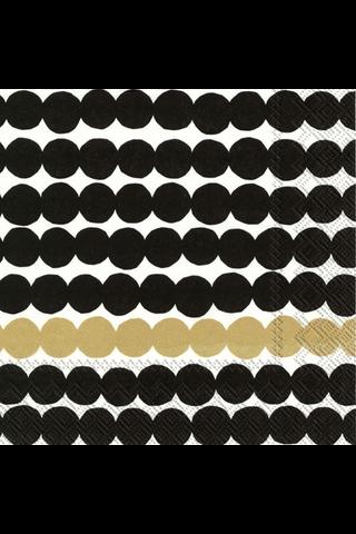 Marimekko Räsymatto 20kpl musta kulta servietti