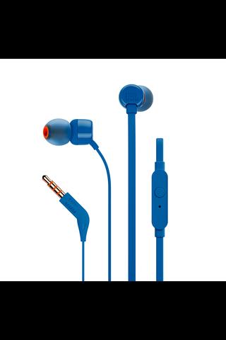 JBL T110 nappikuulokkeet mikrofonilla sininen
