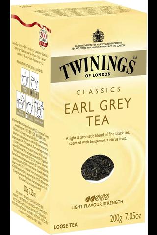 Twinings 200g Earl Grey tea