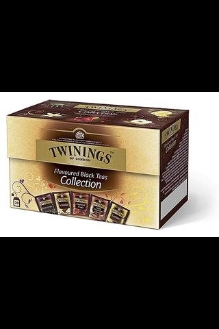 Twinings 20x2g Flavoured Black Tea Collection teelajitelma maustettu musta tee