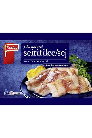 Findus Filet Naturel Seiti MSC 400g, pakaste