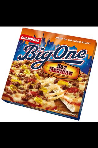 Grandiosa Big One pan pizza hot mexican, juustoa, naudanjauhelihaa ja mausteita 605g