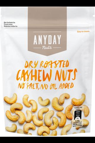 Anyday 140g Dry Roasted Cashew pähkinät
