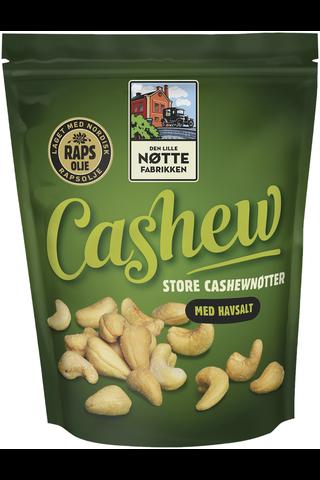 Den Lille Nøttefabrikken 280g Cashew rypsiöljyssä paahdettu cashewpähkinä merisuola
