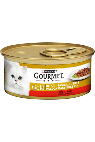 Gourmet 85g Gold Naudanlihaa Kastikkeessa kissanruoka