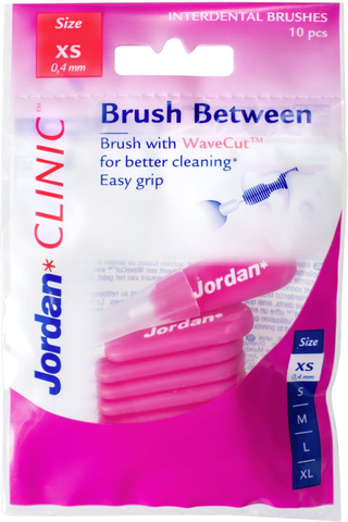 Jordan Clinic Brush Between hammasväliharja XS-koko 10kpl