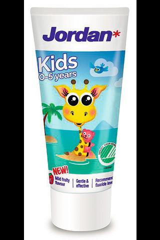 Jordan 50ml Kids lasten hammastahna 0-5 vuotiaille