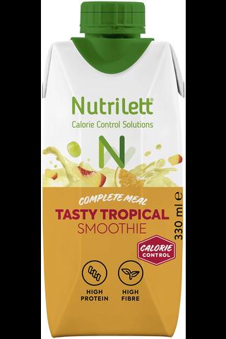 Nutrilett 330 ml Tasty Tropical 30 % vähemmän sokeria Smoothie ateriankorvike