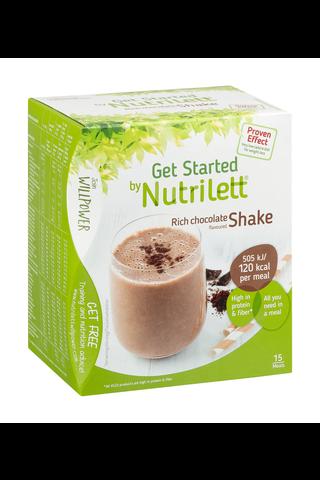 Nutrilett Rich Chocolate shake VLCD-dieettivalmiste suklaapirtelö 15x33g