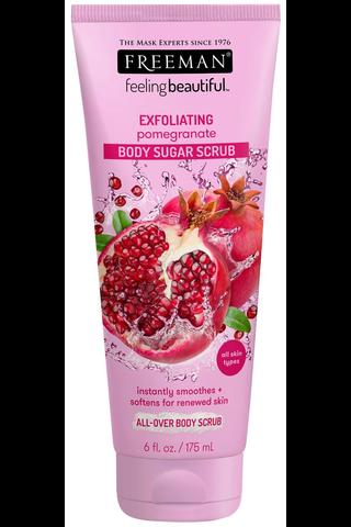 Freeman 150ml Feeling Beautiful Sugar Body Scrub Pomegranate vartalon kuorinta-aine