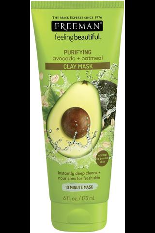 Freeman Feeling Beautiful Facial Clay Mask Avocado & Oatmeal -kasvonaamio