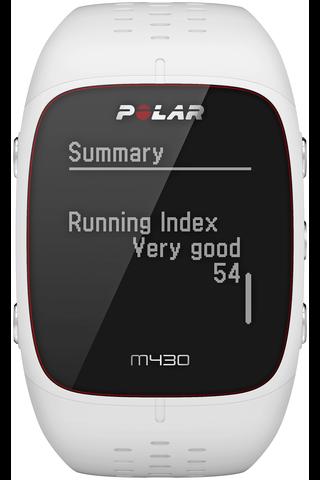 Polar M430 GPS juoksukello valkoinen