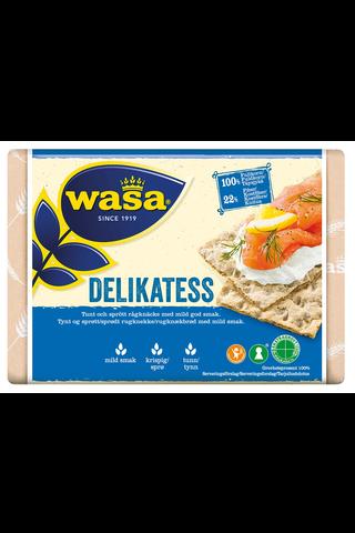 Wasa 270g Delikatess näkkileipä täysjyväruista sisältävä leipomotuote