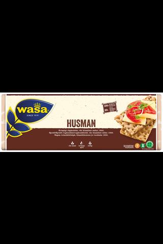 Wasa 520g Husman/ Reilu näkkileipä täysjyväruista sisältävä leipomotuote