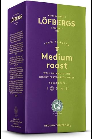 Löfbergs Medium Roast Suodatinkahvi 500 g Rainforest Alliance
