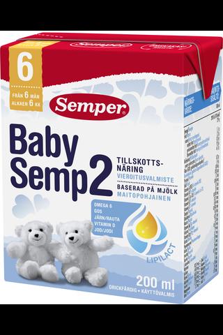 Semper BabySemp 2 200ml käyttövalmis maitopohjainen vieroitusvalmiste alkaen 6kk