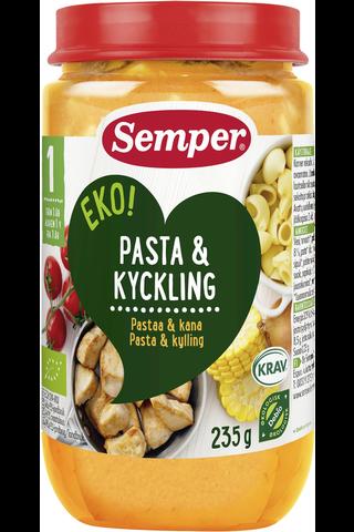 Semper EKO 235g Pastarenkaita, kanaa ja vihanneksia alkaen 1 v luomu lastenateria