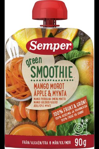 Semper 90g Green Smoothie mango porkkana omena minttu alkaen 6 kk