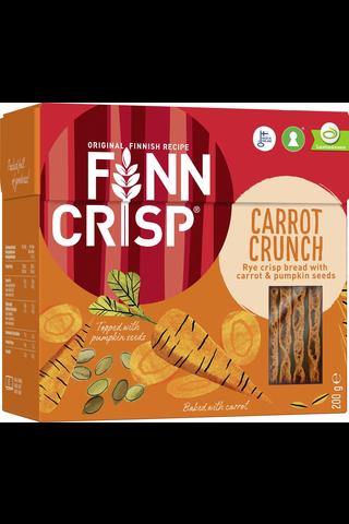 FINN CRISP Carrot Crunch 200 g Ruisnäkkileipä porkkanalla sekä kurpitsan- ja pellavansiemenillä