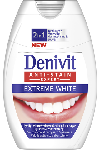 Denivit 75ml 2in1 Extreme White hammastahna + suuvesi
