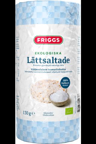 Friggs  vähäsuolainen gluteeniton luomu riisikakku 130g