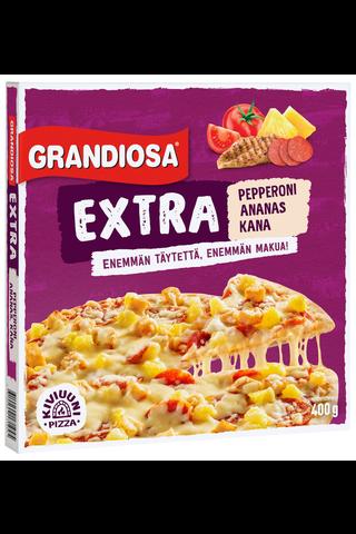 Grandiosa Extra pepperoni, kana ja ananas kiviuunipizza 400g