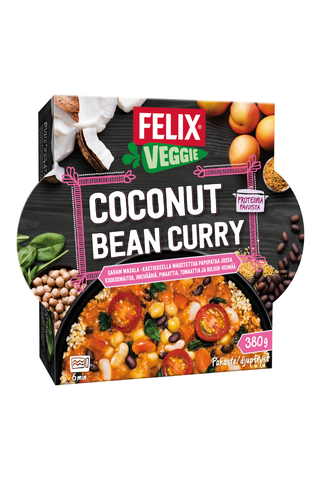 Felix Veggie 380g coconut bean curry kasvisateria