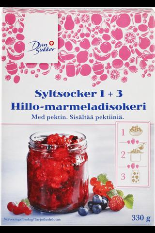 Dansukker 330g Hillo-marmeladisokeri 1+3