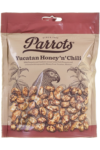 Parrots 175g Yucatan Honey 'n' Chili pähkinäsekoitus